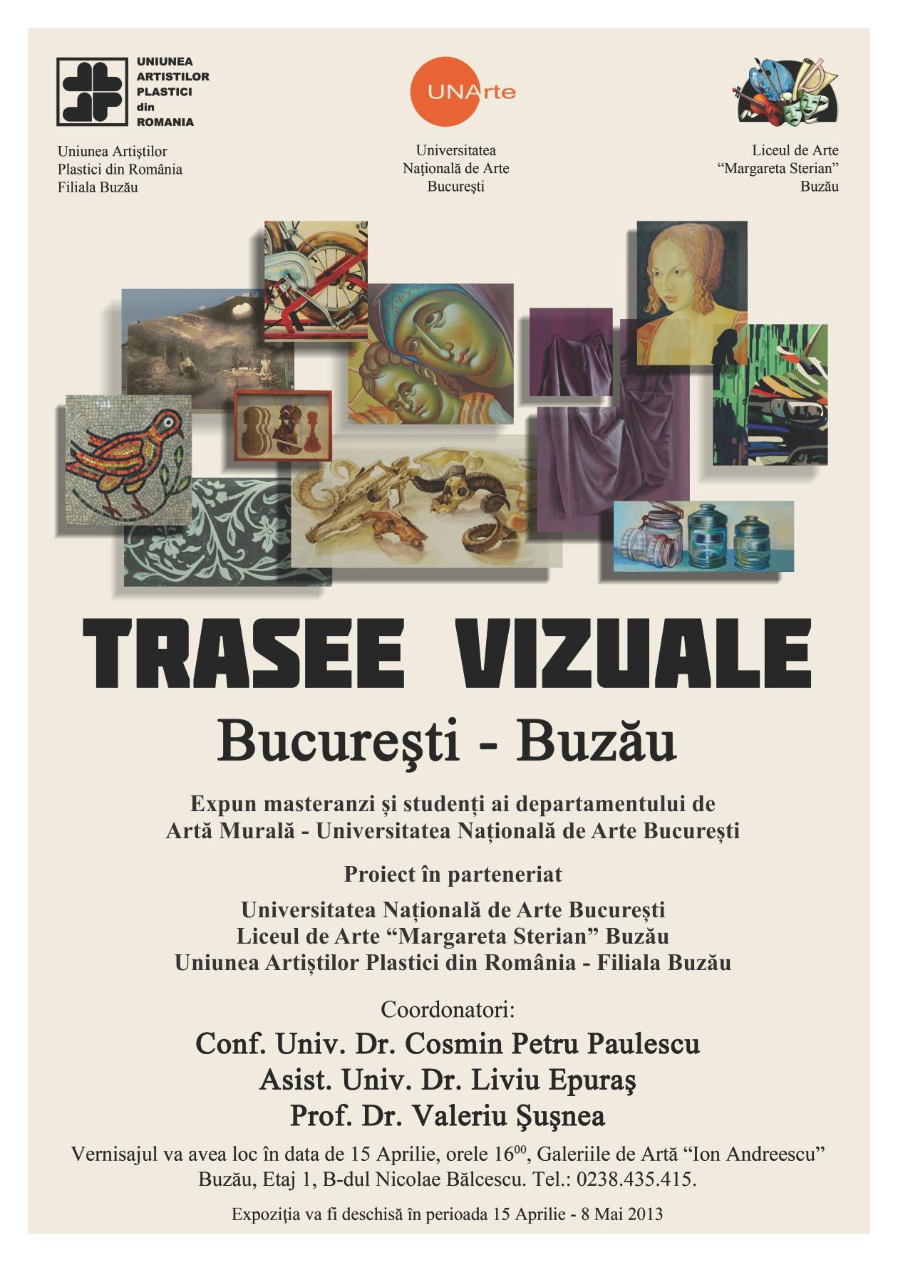 afis Trasee Vizuale Bucuresti - Buzau
