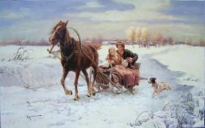 iarna cu sania