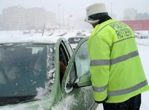 politisti drumuri blocate