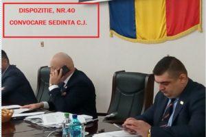 DISPOZIŢIE   Nr. 40  privind convocarea Consiliului judeţean  în şedinţă ordinară