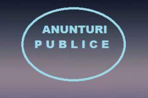 ANUNTURI PUBLICE